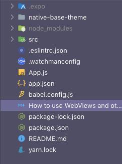 The contents of an /src folder inside a filetree